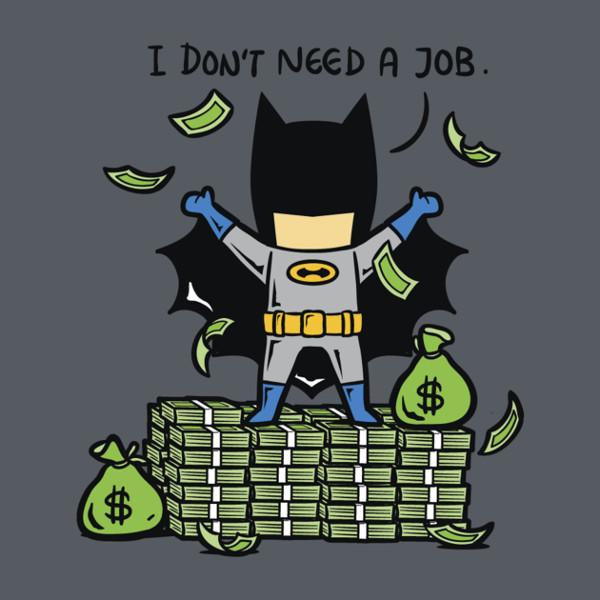 Batman, akinek nincsen szüksége másodállásra